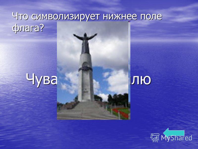 Что символизирует нижнее поле флага? Чувашскую землю Чувашскую землю