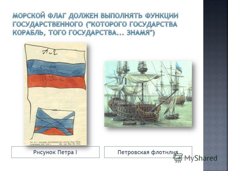 Рисунок Петра IПетровская флотилия