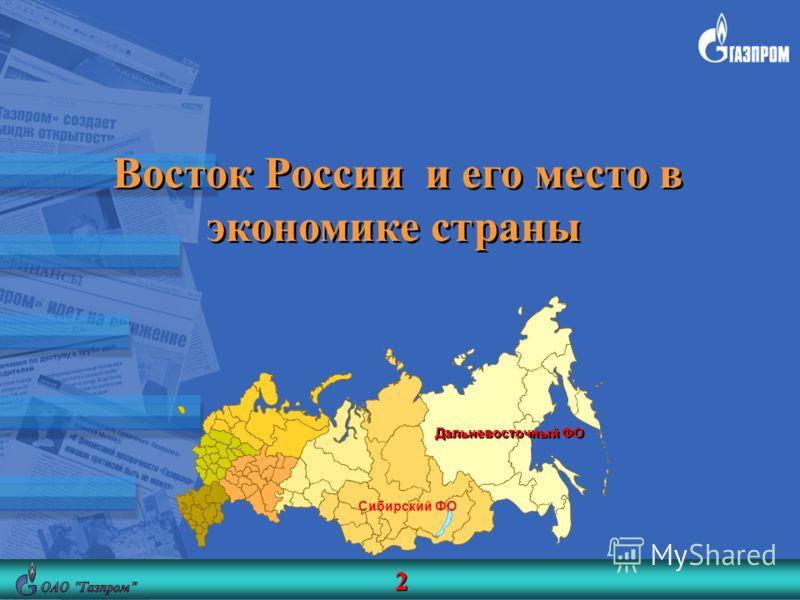 Восток России и его место в экономике страны Сибирский ФО Дальневосточный ФО 2 2