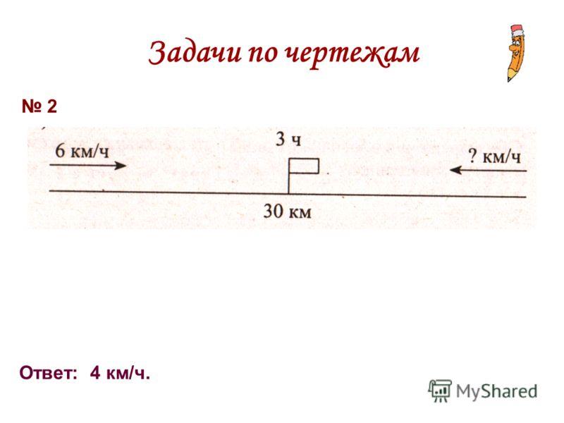 Задачи по чертежам 2 Ответ: 4 км/ч.