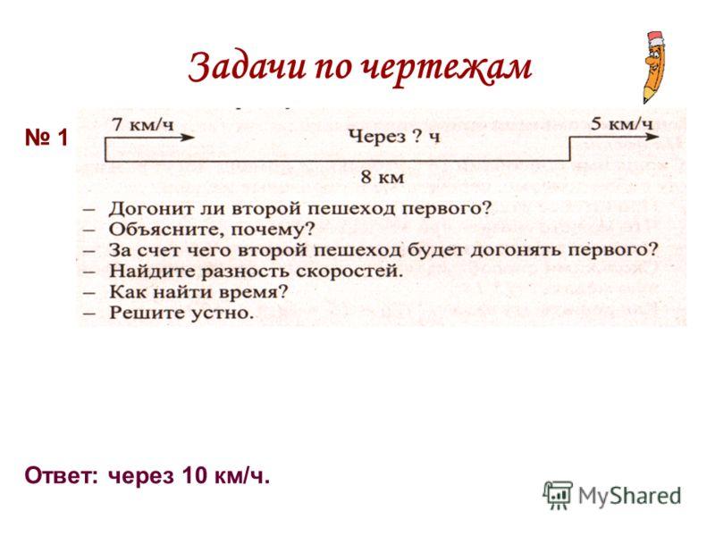 Задачи по чертежам 1 Ответ: через 10 км/ч.