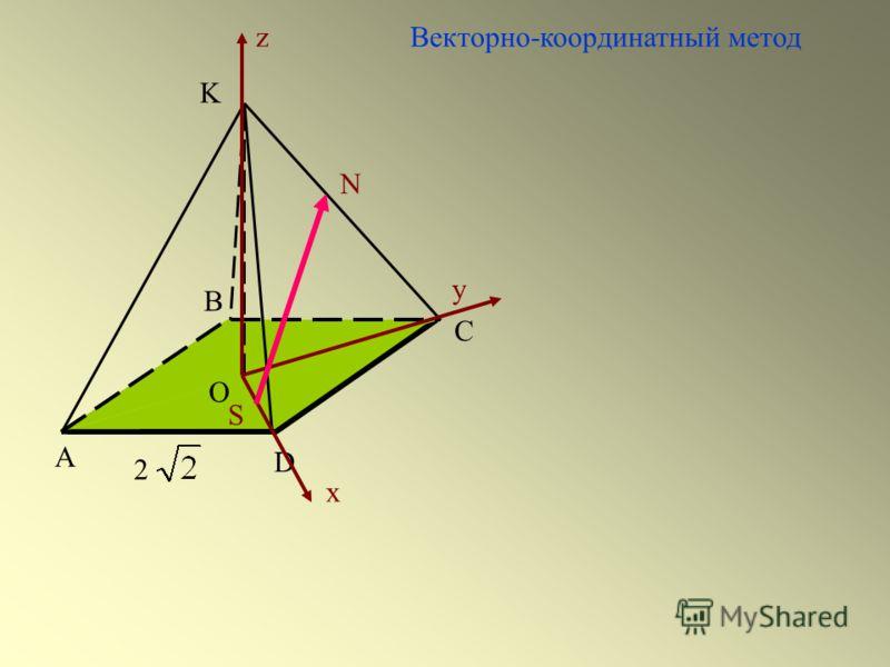 А С D 2 В Векторно-координатный методz x y K O S N