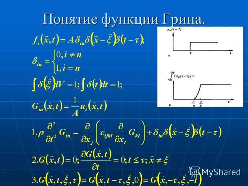 Понятие функции Грина.