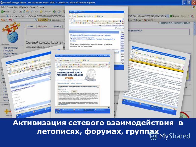 Copyright © 2006, Intel Corporation. All rights reserved. Активизация сетевого взаимодействия в летописях, форумах, группах