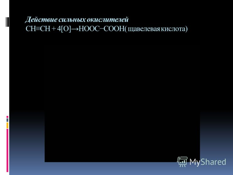 Действие сильных окислителей СНСН + 4[О]НООССООН( щавелевая кислота)