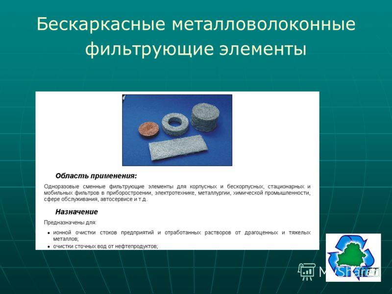 Бескаркасные металловолоконные фильтрующие элементы
