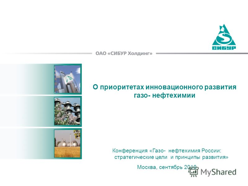 О приоритетах инновационного развития газо- нефтехимии Конференция «Газо- нефтехимия России: стратегические цели и принципы развития» Москва, сентябрь 2010