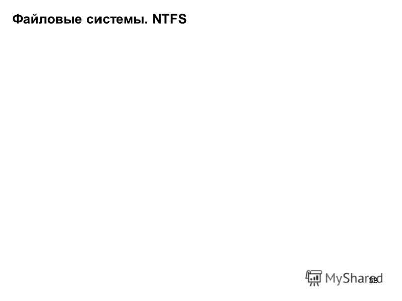 38 Файловые системы. NTFS