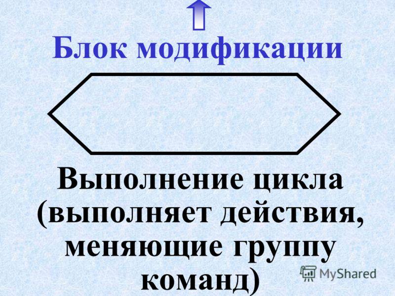 Блок условия (выбора решения) Указывает выбор направления в зависимости от выполнения условия