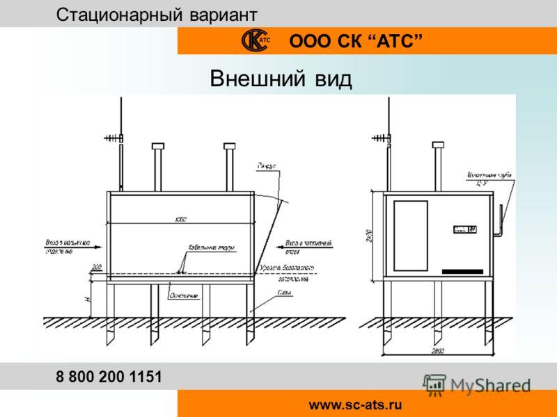 Стационарный вариант ООО СК АТС 8 800 200 1151 www.sc-ats.ru Внешний вид