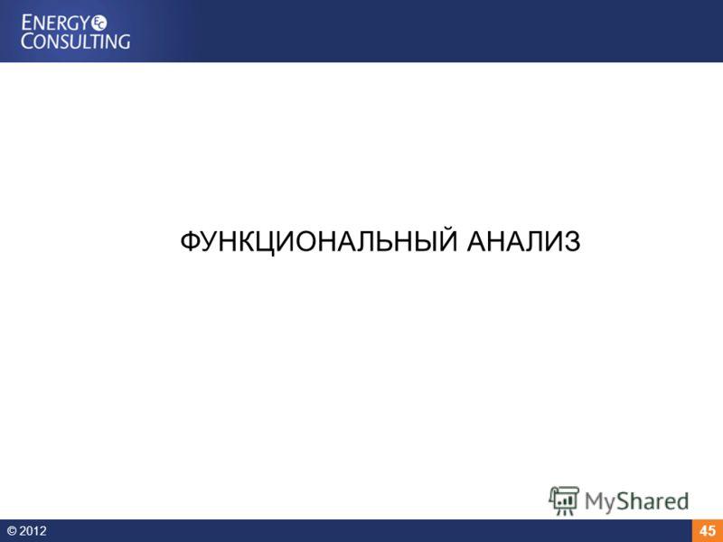 © 2012 45 ФУНКЦИОНАЛЬНЫЙ АНАЛИЗ