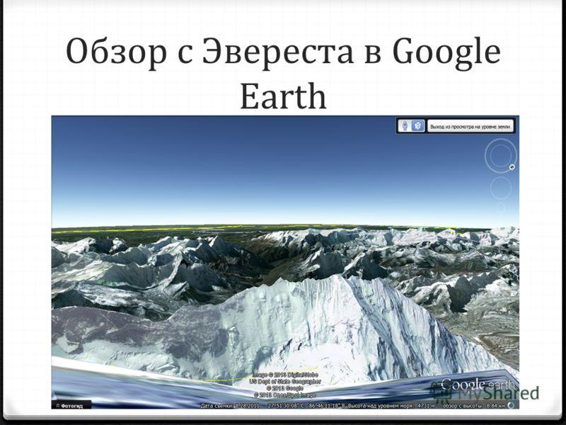 Обзор с Эвереста в Google Earth