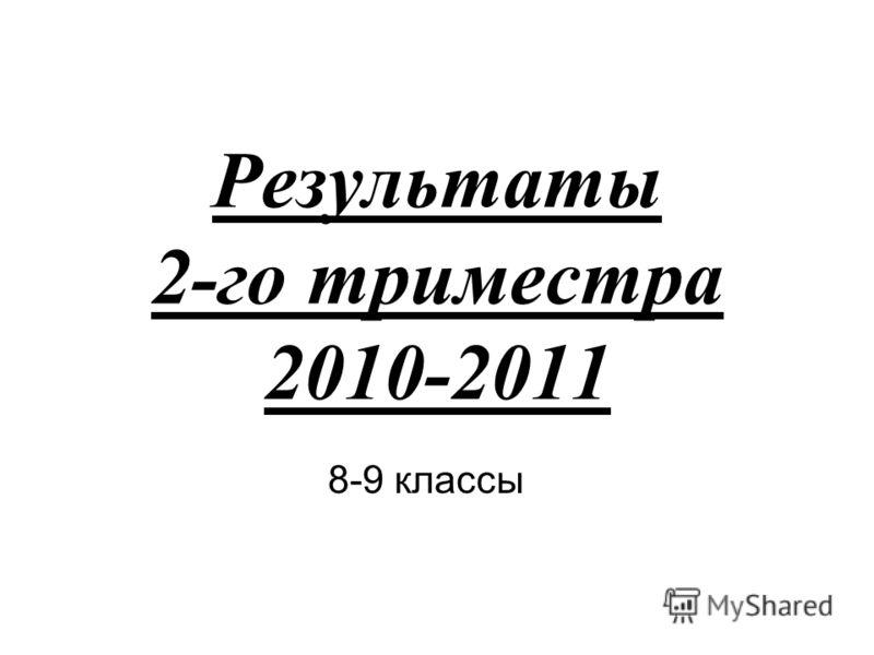 Результаты 2-го триместра 2010-2011 8-9 классы