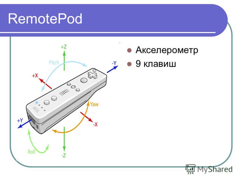 RemotePod Акселерометр 9 клавиш
