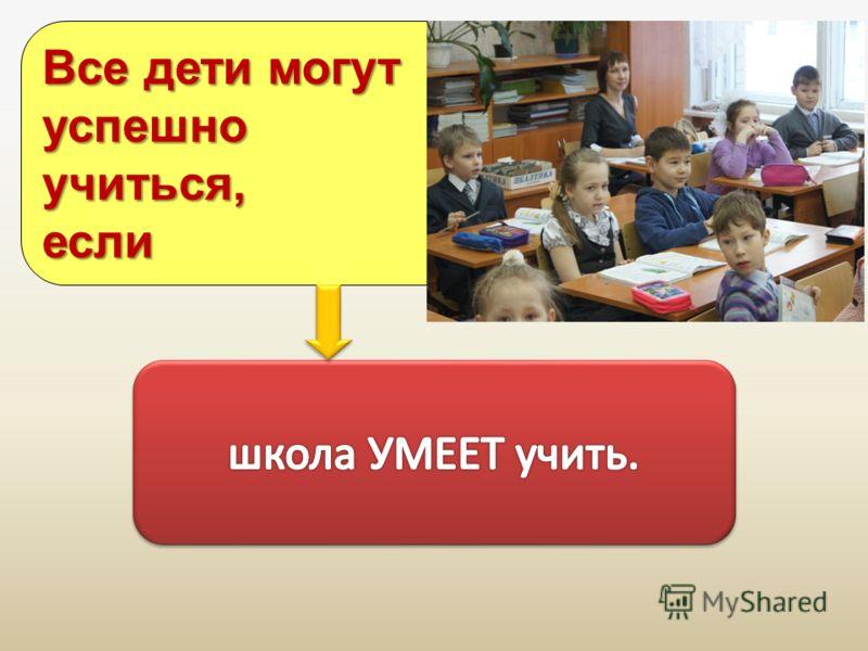 Все дети могут успешноучиться,если