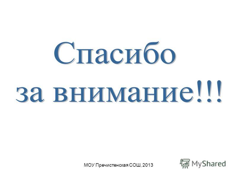 МОУ Пречистенская СОШ, 2013