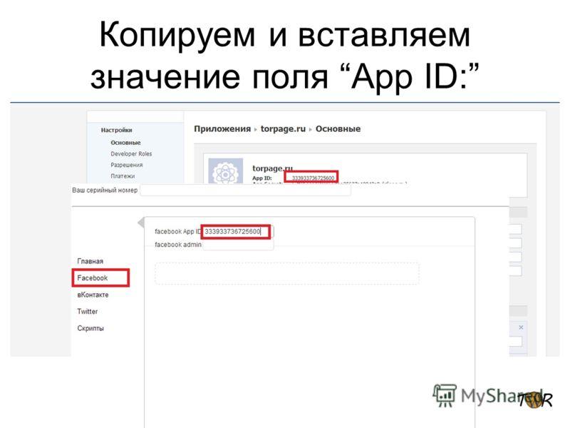 Копируем и вставляем значение поля App ID: Обозначьте альтернативные стратегии Опишите за и против каждой стратегии Предоставьте прогноз затрат