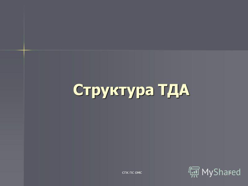 СПК ПС ОМС 4 Структура ТДА
