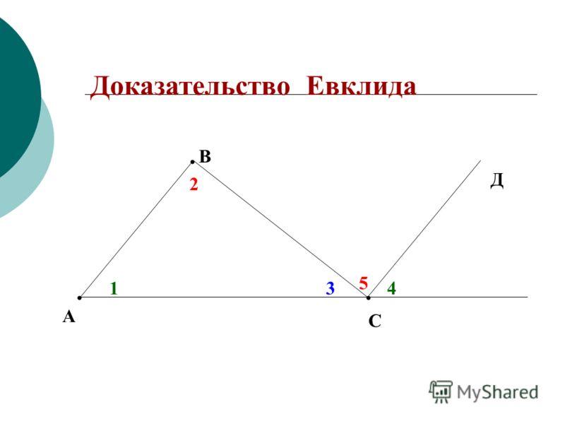 Доказательство Евклида. В А С Д 2 5 143