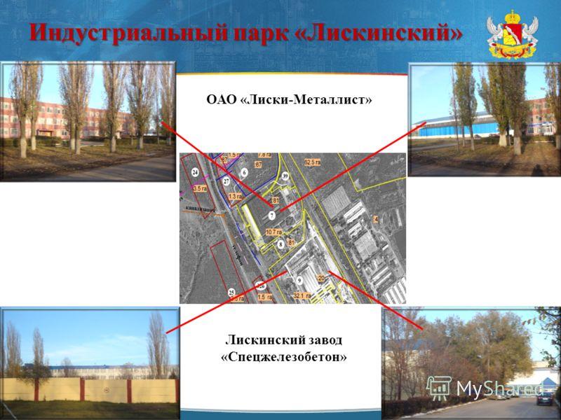 Индустриальный парк «Лискинский» ОАО «Лиски-Металлист» Лискинский завод «Спецжелезобетон»