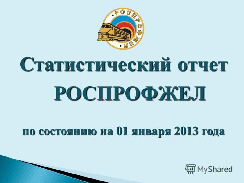 Статистическийотчет РОСПРОФЖЕЛ Статистический отчет РОСПРОФЖЕЛ по состоянию на 01 января 2013 года