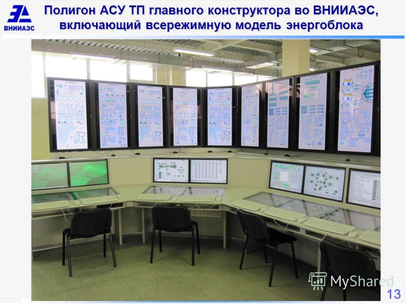 13 Полигон АСУ ТП главного конструктора во ВНИИАЭС, включающий всережимную модель энергоблока