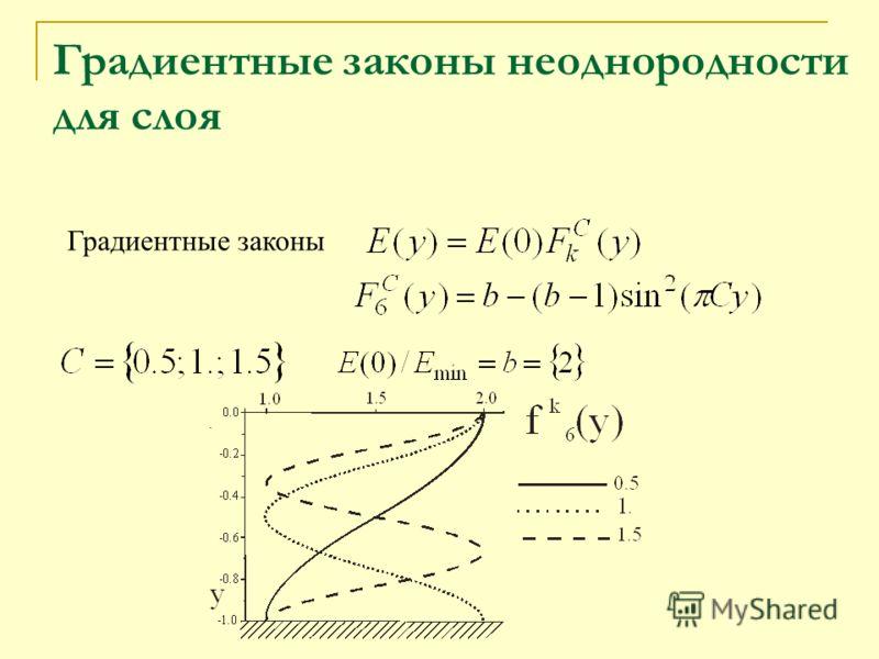 . Градиентные законы неоднородности для слоя Градиентные законы