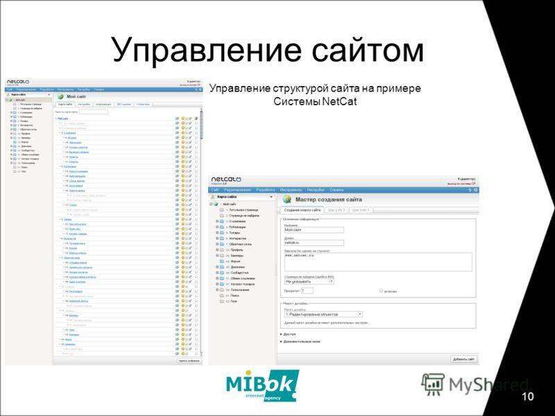 10 Управление сайтом Управление структурой сайта на примере Системы NetCat