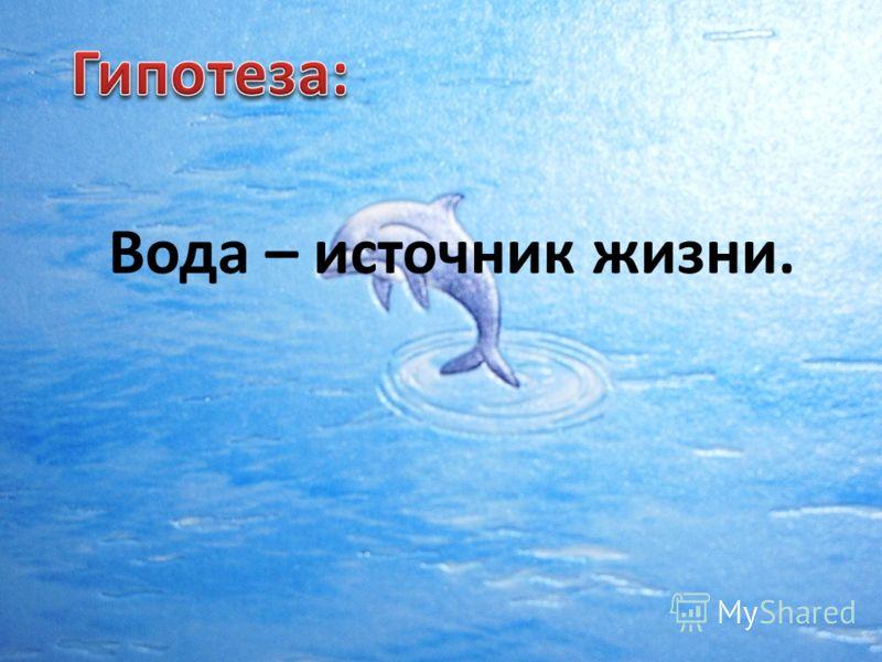 Вода – источник жизни.