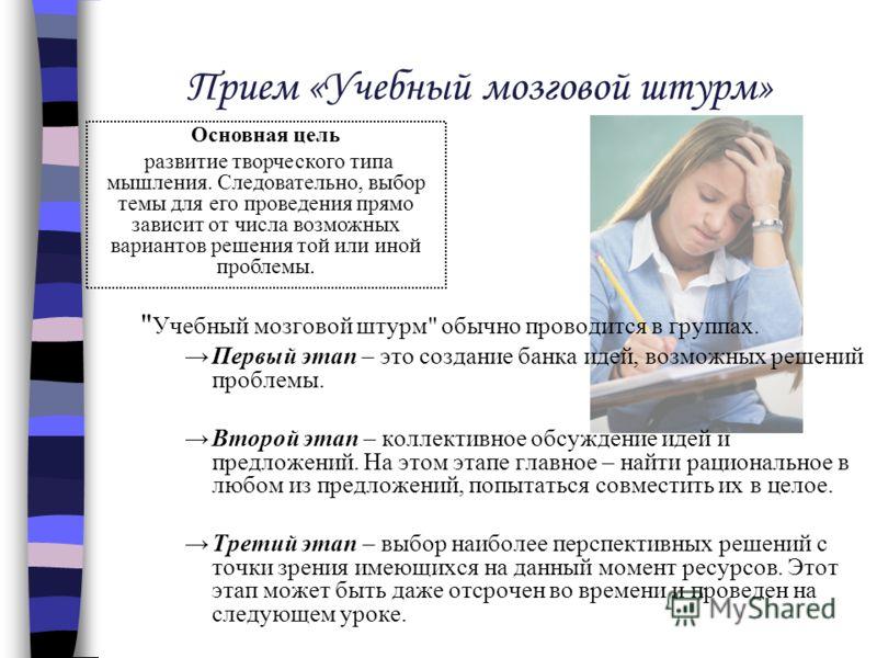 Прием «Учебный мозговой штурм»