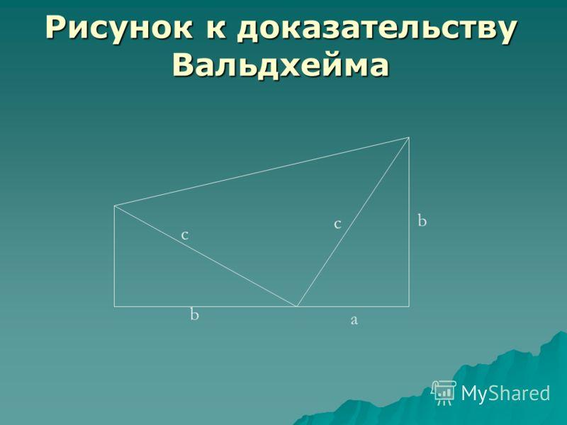Рисунок к доказательству Вальдхейма b a b c c
