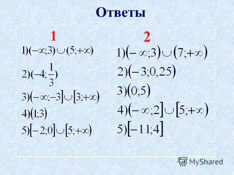 Ответы 1 2