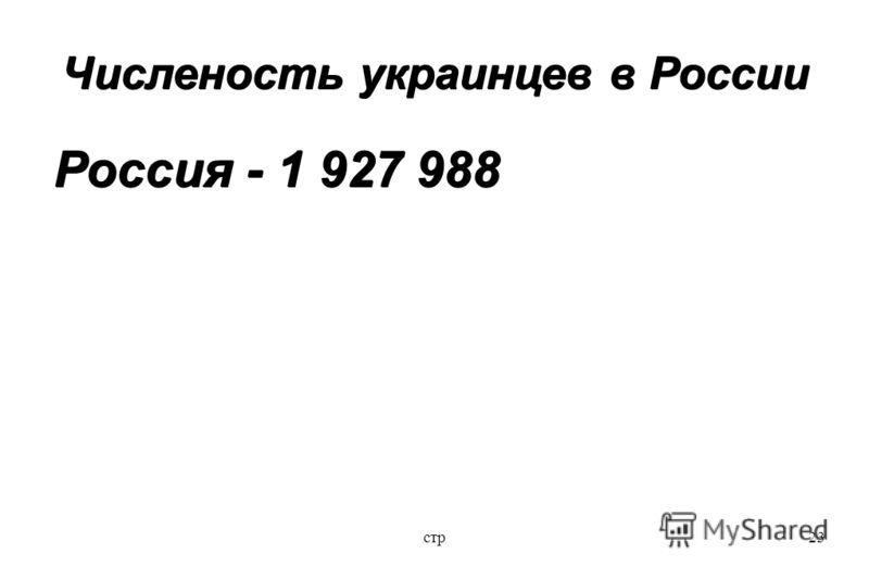 стр23 Численость украинцев в России Россия - 1 927 988