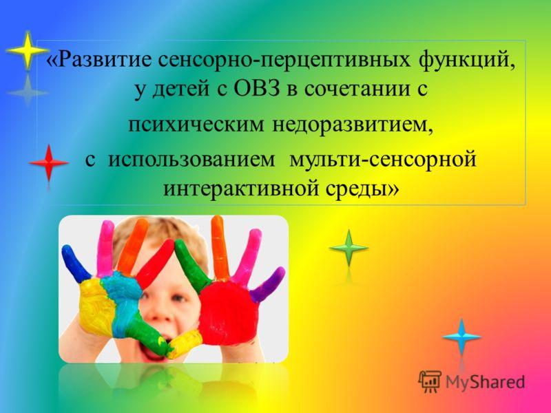 «Развитие сенсорно-перцептивных функций, у детей с ОВЗ в сочетании с психическим недоразвитием, с использованием мульти-сенсорной интерактивной среды»