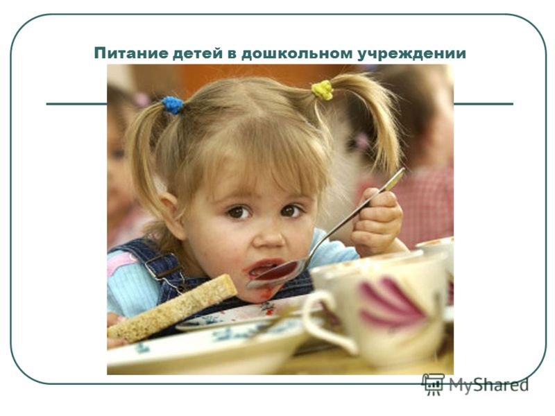 Питание детей в дошкольном учреждении