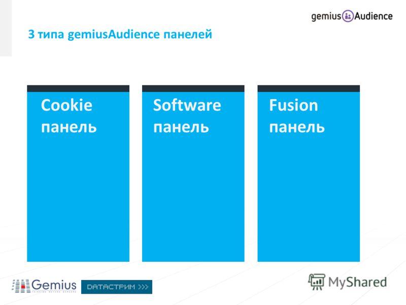 Cookie панель Fusion панель Software панель 3 типа gemiusAudience панелей