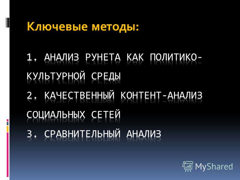 Ключевые методы: