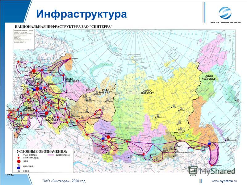 www.synterra.ru ЗАО «Синтерра», 2008 год Инфраструктура #2#2