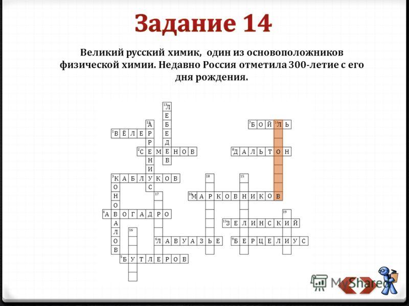 Великий русский химик, один из основоположников физической химии. Недавно Россия отметила 300-летие с его дня рождения.