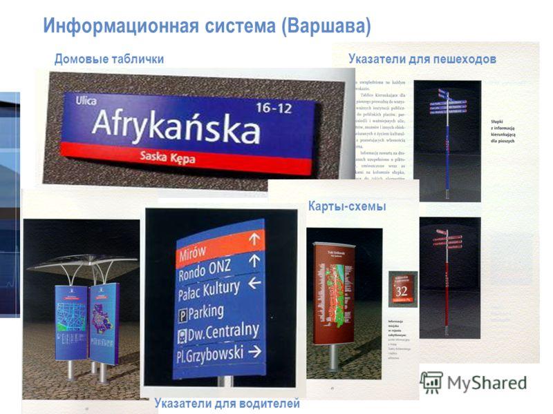 © 3M 2007. All Rights Reserved. Информационная система (Варшава) Домовые таблички Указатели для пешеходов Карты-схемы Указатели для водителей