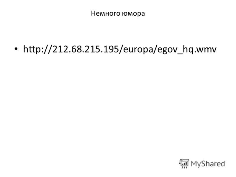 Немного юмора http://212.68.215.195/europa/egov_hq.wmv