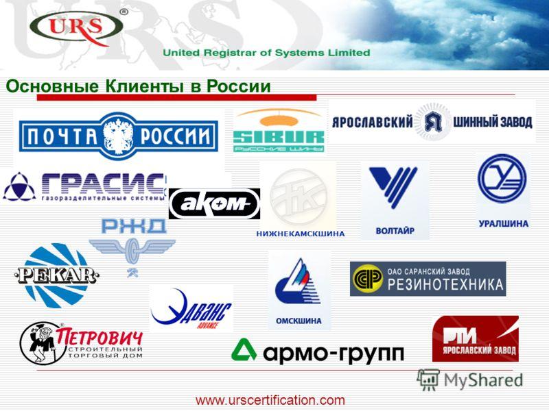 Основные Клиенты в России НИЖНЕКАМСКШИНА