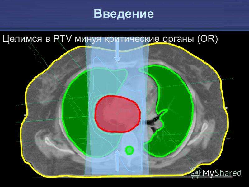 IAEA Предотвращение ошибок в лучевой терапии 5 Целимся в PTV минуя критические органы (OR) Введение