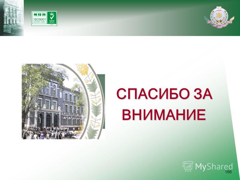 168 СПАСИБО ЗА ВНИМАНИЕ ВНИМАНИЕ