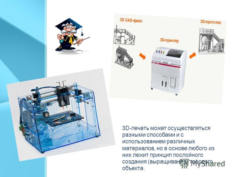 3D-принтер устройство, использующее метод послойного создания физического объекта, на основе виртуальной 3D-модели