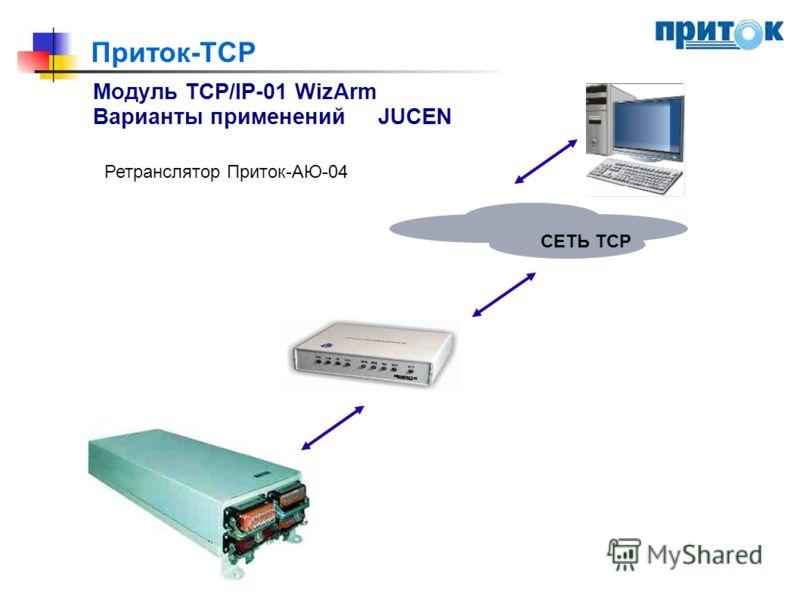 Приток-TCP Модуль TCP/IP-01 WizArm Варианты примененийJUCEN Ретранслятор Приток-АЮ-04 СЕТЬ ТСР