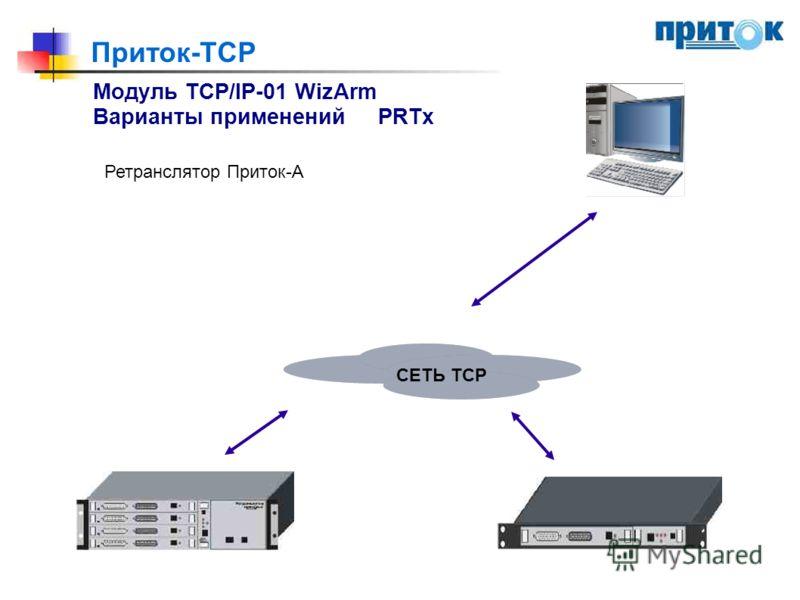 Приток-TCP Модуль TCP/IP-01 WizArm Варианты примененийPRTx Ретранслятор Приток-А СЕТЬ ТСР
