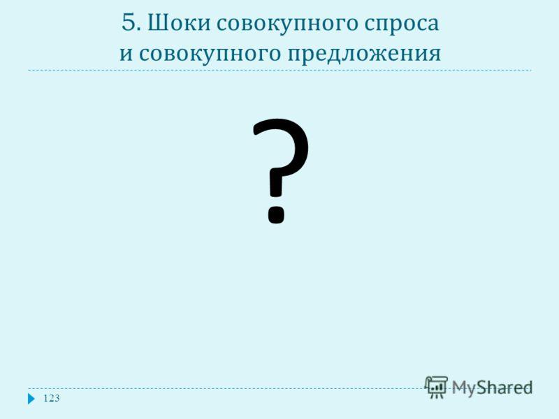 5. Шоки совокупного спроса и совокупного предложения 123 ?