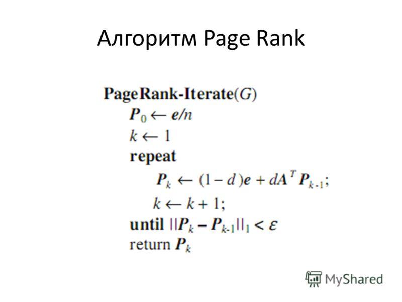 Алгоритм Page Rank