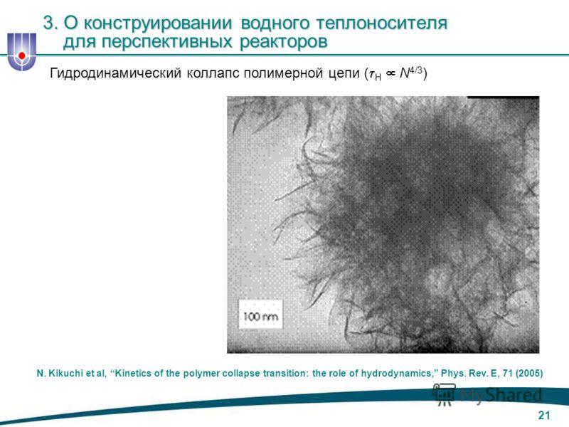 20 M. Assael et al, Thermal conductivity of suspensions of carbon nanotubes in water, (2003) Полные сведения о критическом тепловом потоке (CHF) 3. О конструировании водного теплоносителя для перспективных реакторов